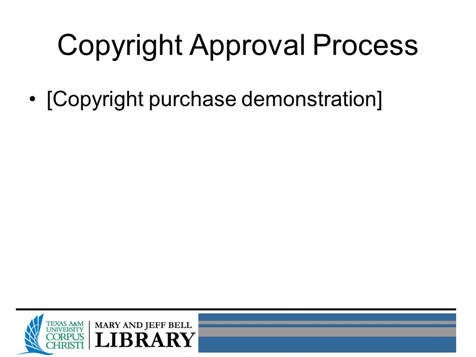 Copyright Approval Process [Copyright purchase demonstration]