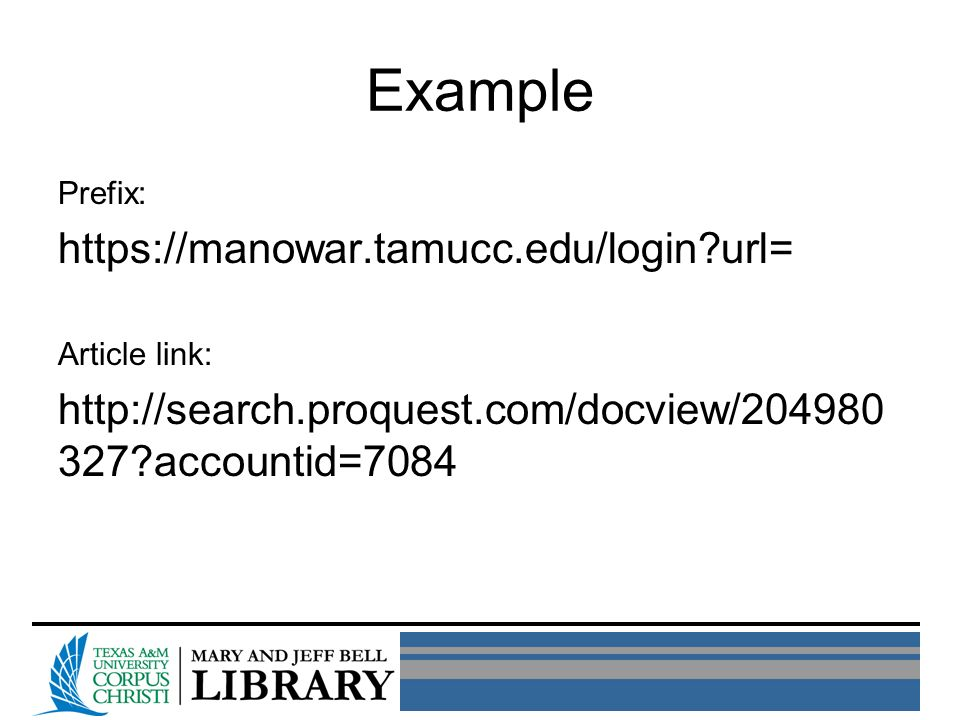 Prefix: https://manowar.tamucc.edu/login url= Article link: http://search.proquest.com/docview/204980 327 accountid=7084