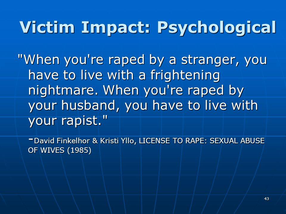 43 Victim Impact: Psychological
