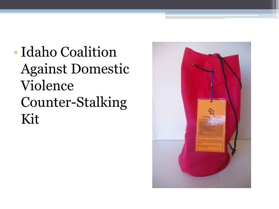 Idaho Coalition Against Domestic Violence Counter-Stalking Kit