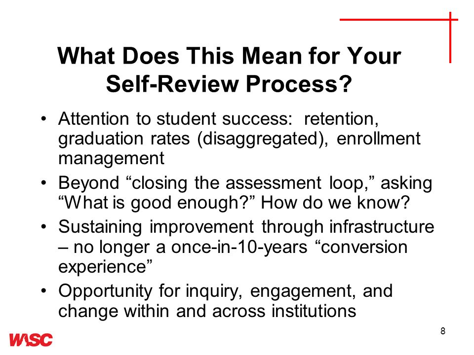 8 What Does This Mean for Your Self-Review Process.