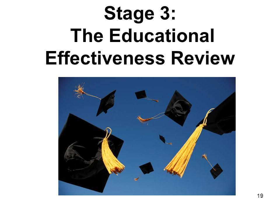 19 Stage 3: The Educational Effectiveness Review