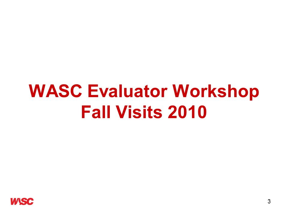 34 Pre-visit Preparation Read all the documents from WASC –Standards, CFRs, policies, visit guide, rubrics –Background documents re: institution and purpose of the visit, including Proposal and/or last action letter/team report Read the institutional report Review the data portfolio and exhibits –What to look for and highlight?