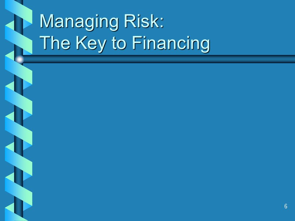 6 Managing Risk: The Key to Financing
