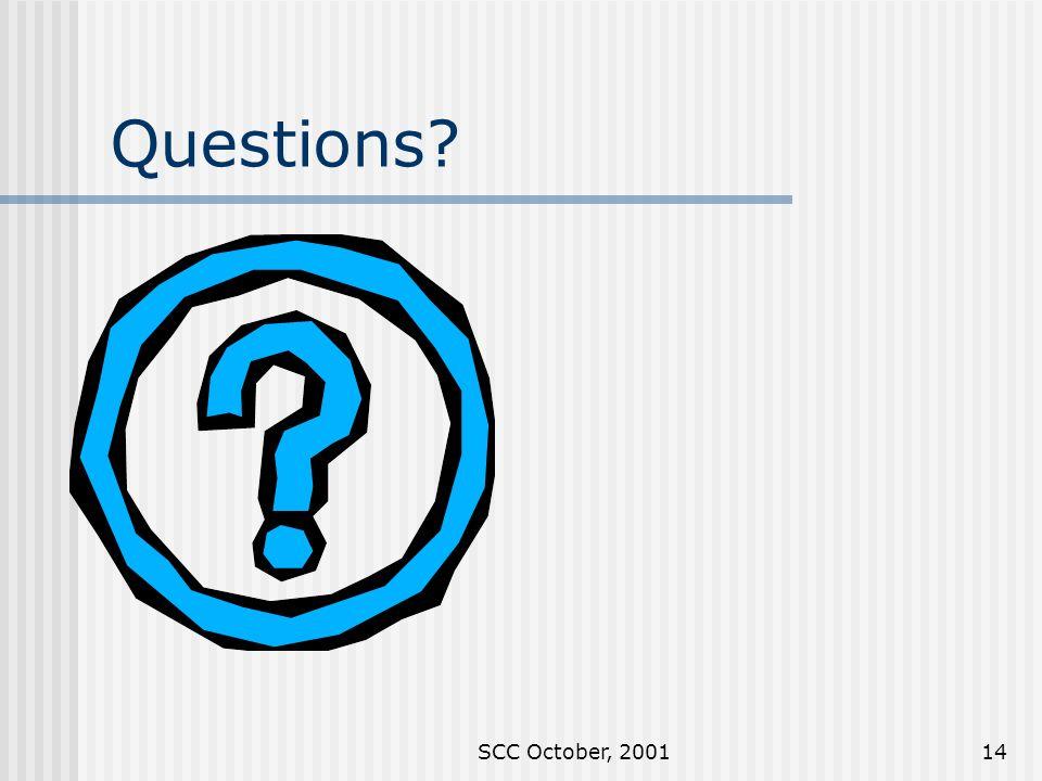 SCC October, 200114 Questions