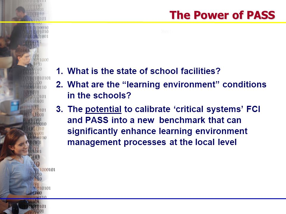 1.What is the state of school facilities.