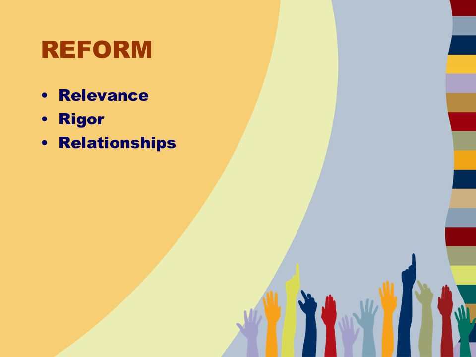 REFORM Relevance Rigor Relationships