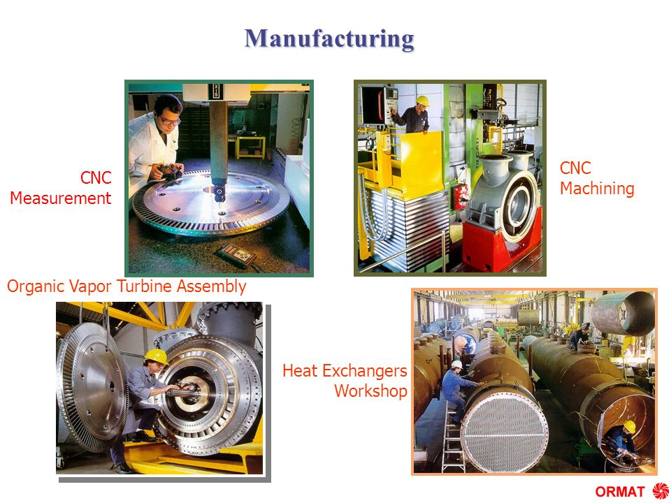Organic Vapor Turbine Assembly Heat Exchangers Workshop CNC Measurement CNC Machining 1476 Manufacturing
