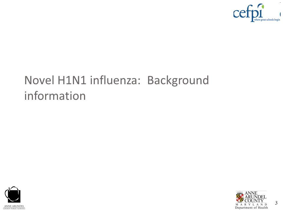 3 Novel H1N1 influenza: Background information