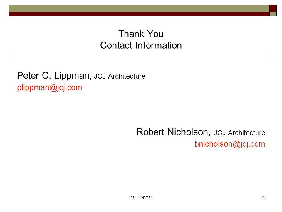P.C. Lippman39 Peter C.