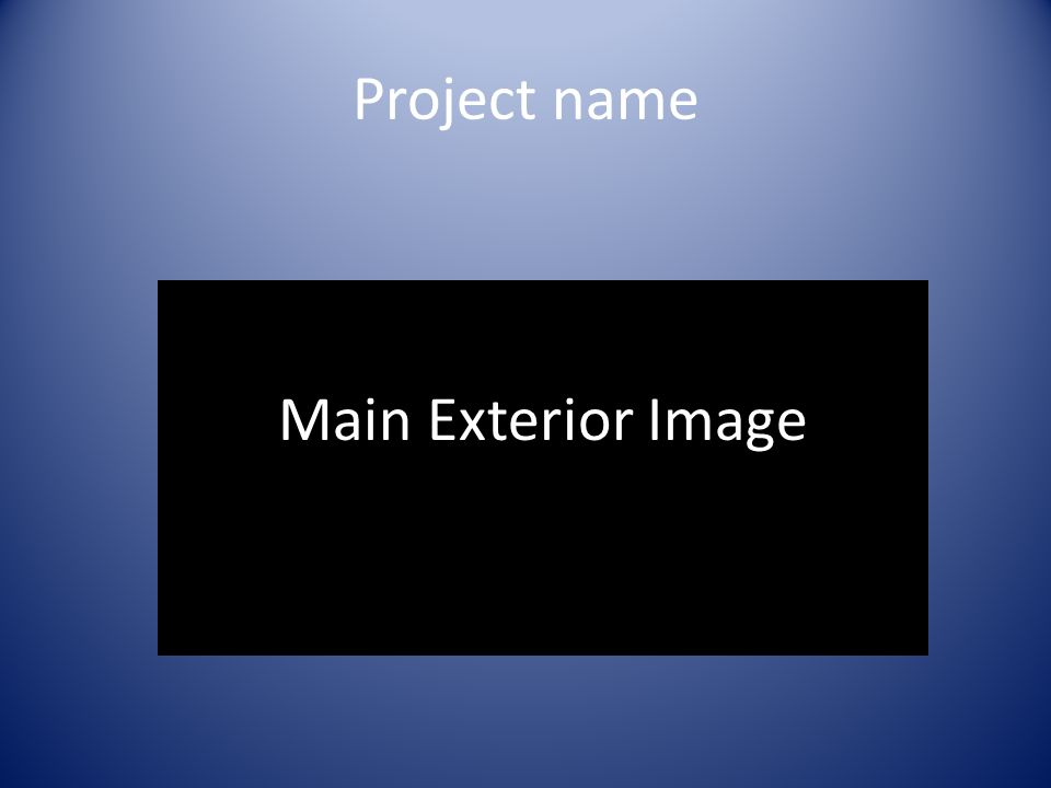 Project name Main Exterior Image