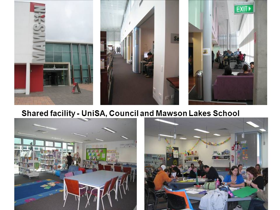 Shared facility - UniSA, Council and Mawson Lakes School