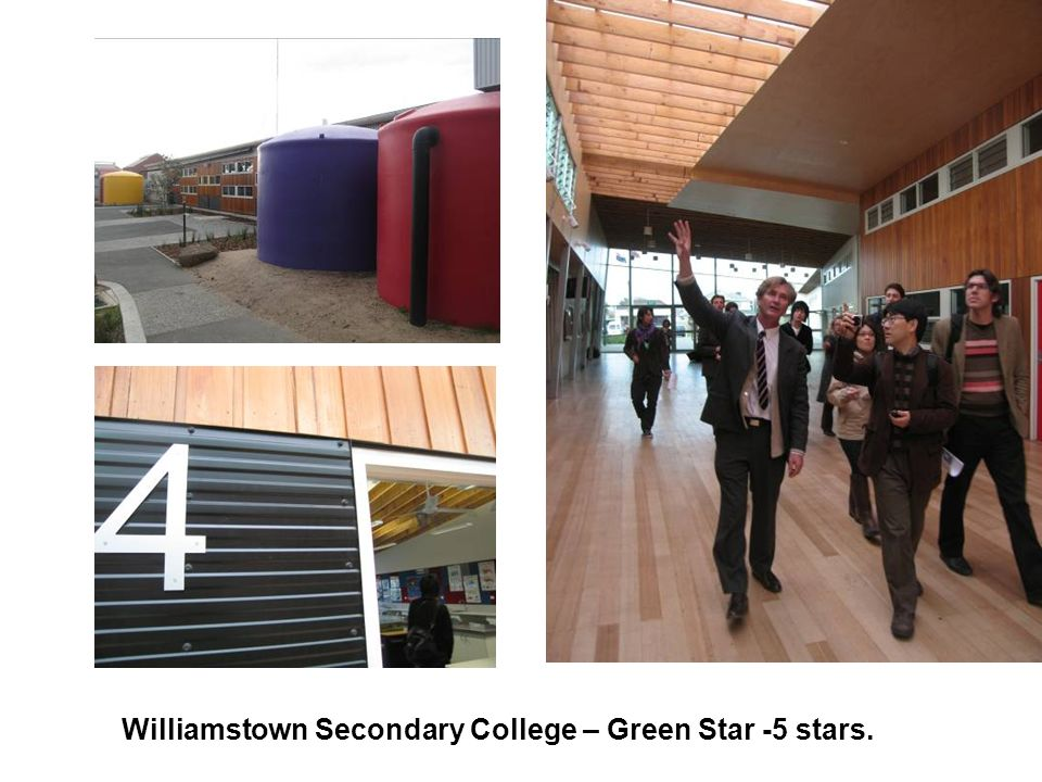 Williamstown Secondary College – Green Star -5 stars.