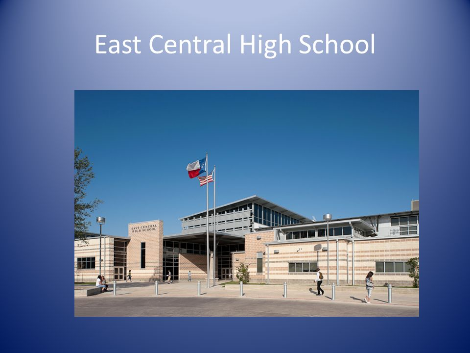 East Central High School Site Plan Legend (Renovated): 1 -- Practice Gym 2 -- Band Hall 3 -- Cafeteria 4 -- Math & Science 5 -- Game Gym 6 -- Career & Technology 7 -- Physical Education Gym 8 -- Ag Center 9 -- New Ag Building 10 -- New Academic Building 11 -- Game Gym Addition 12 -- Ph 2 Cafeteria Addition 13 -- Ph 1 Cafeteria Addition
