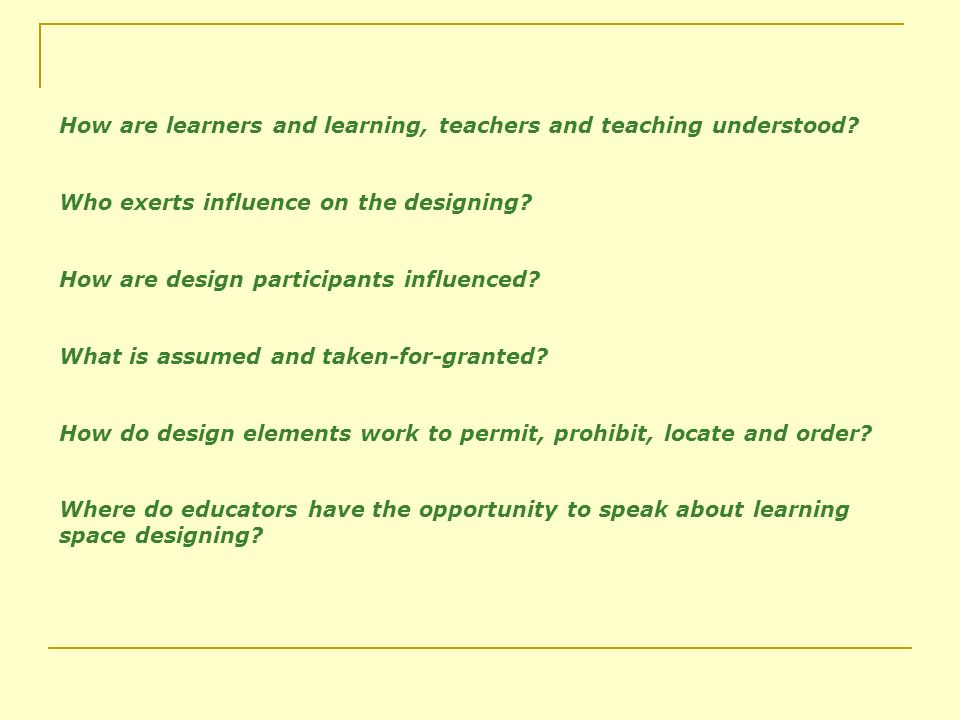 How are learners and learning, teachers and teaching understood.