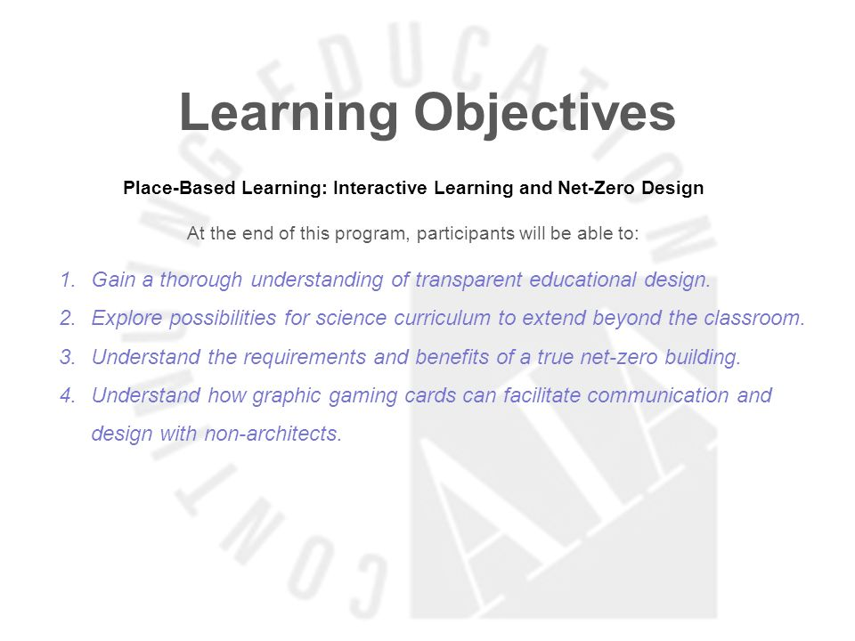 Learning Objectives LearnSpace: Researching Pedagogy & Behavioral Spaces At the end of this program, participants will be able to: 1.Understand how Pedagogy links with the Physical Space 2.Understand non-traditional space and it s impact on Learning 3.Know how to integrate New Learning Technologies in the design of physical spaces.