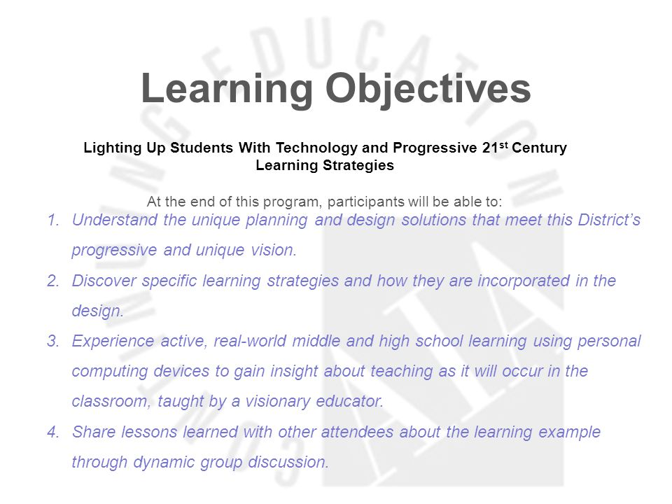 Learning Objectives Factories No More: The Key Role Design and Furniture Have in Enabling Teachers to Change Pedagogy At the end of this program, participants will be able to: 1.Unleash new thinking into school design principles.
