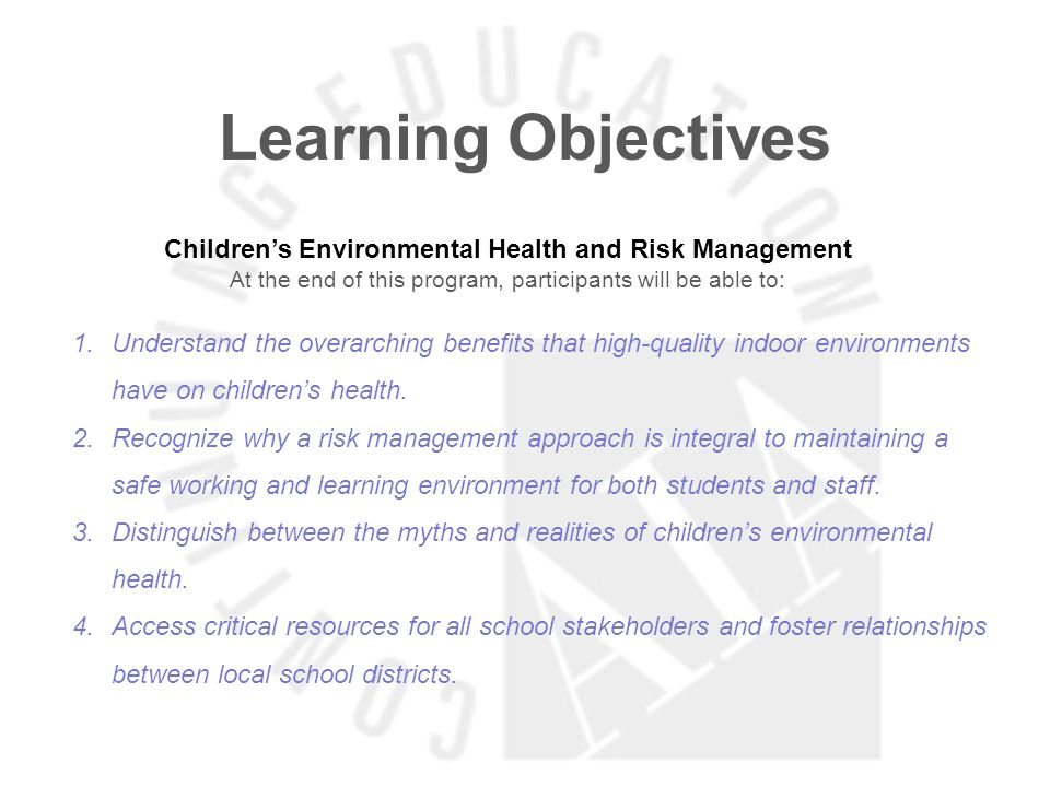 Learning Objectives Cycle of Implementation – Six Key Drivers to Success At the end of this program, participants will be able to: 1.Understand the fundamental components of the IAQ Tools for Schools guidance and how it contributes to the creation of successful IAQ management programs.