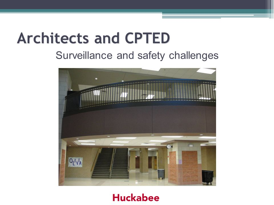 Architects and CPTED Surveillance and safety challenges