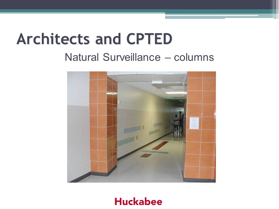Architects and CPTED Natural Surveillance – columns