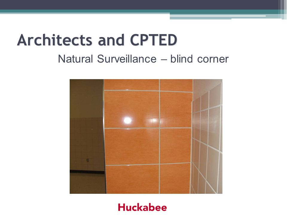 Architects and CPTED Natural Surveillance – blind corner