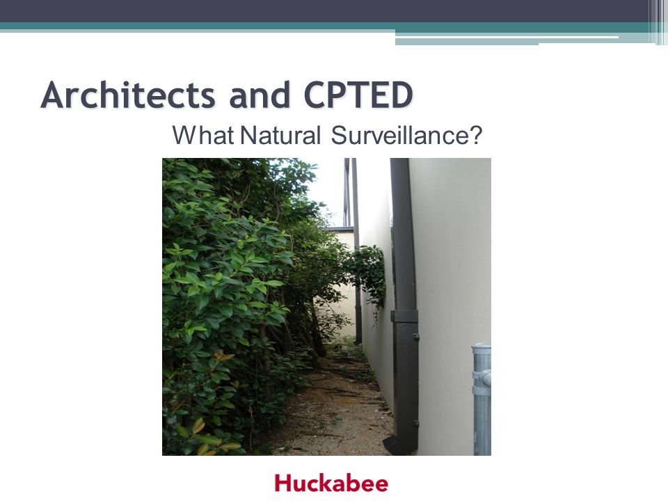 What Natural Surveillance? Architects and CPTED