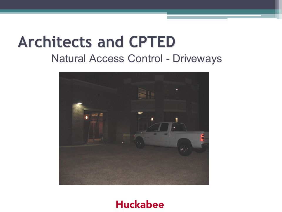 Natural Access Control - Driveways Architects and CPTED