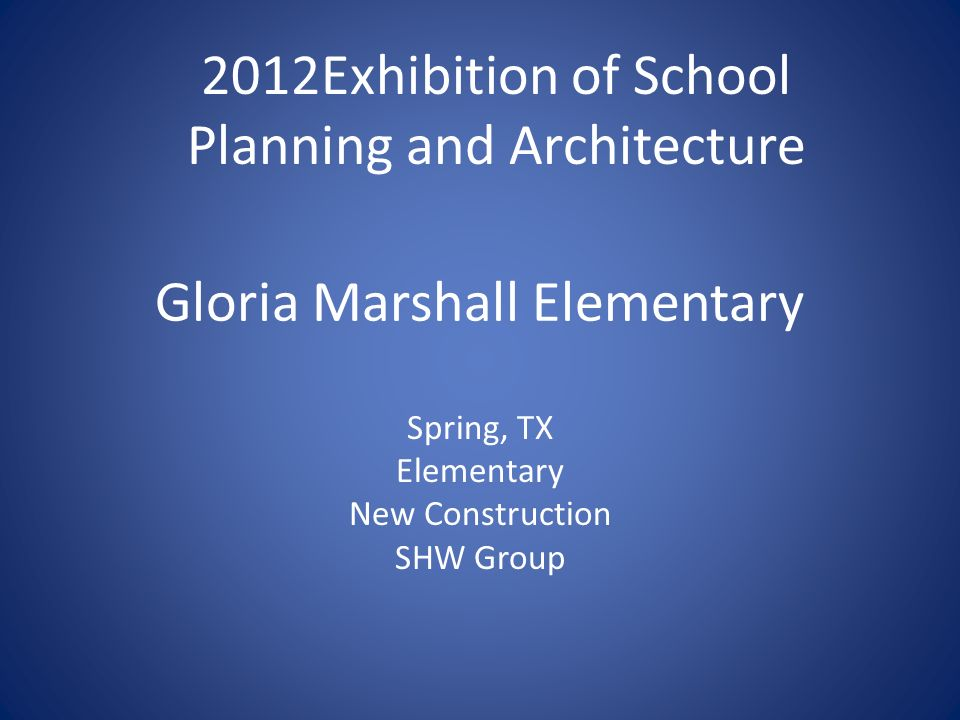 Gloria Marshall Elementary Spring, TX Elementary New Construction SHW Group 2012Exhibition of School Planning and Architecture