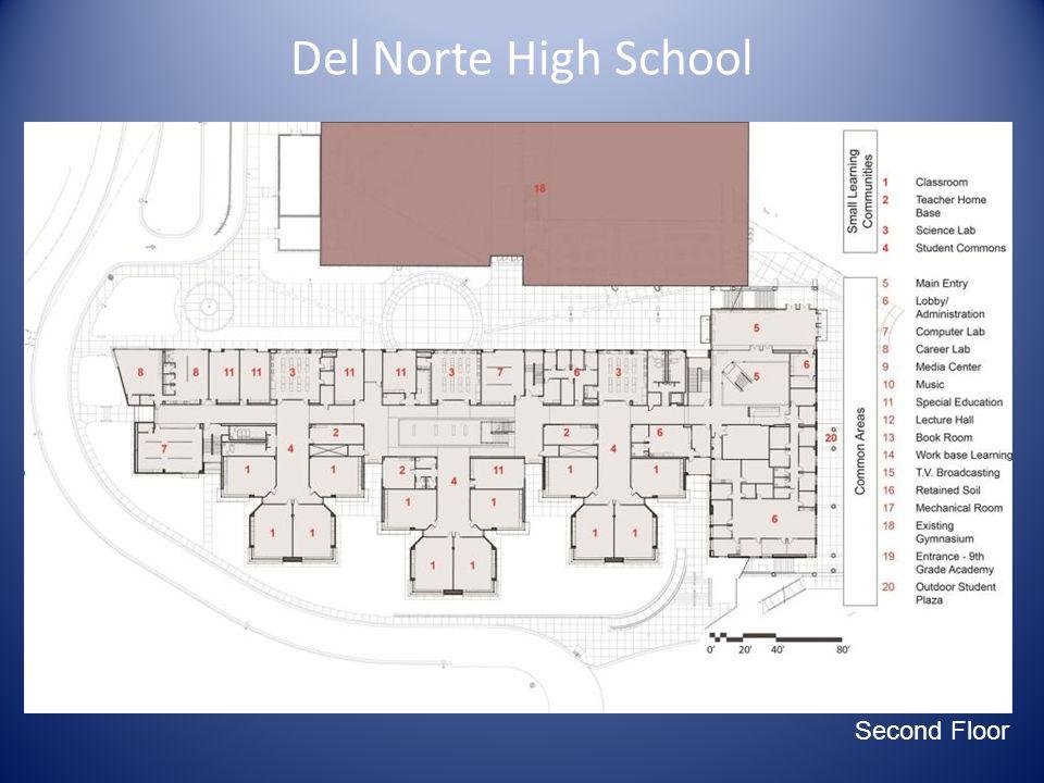 Main Site Diagram Del Norte High School Second Floor