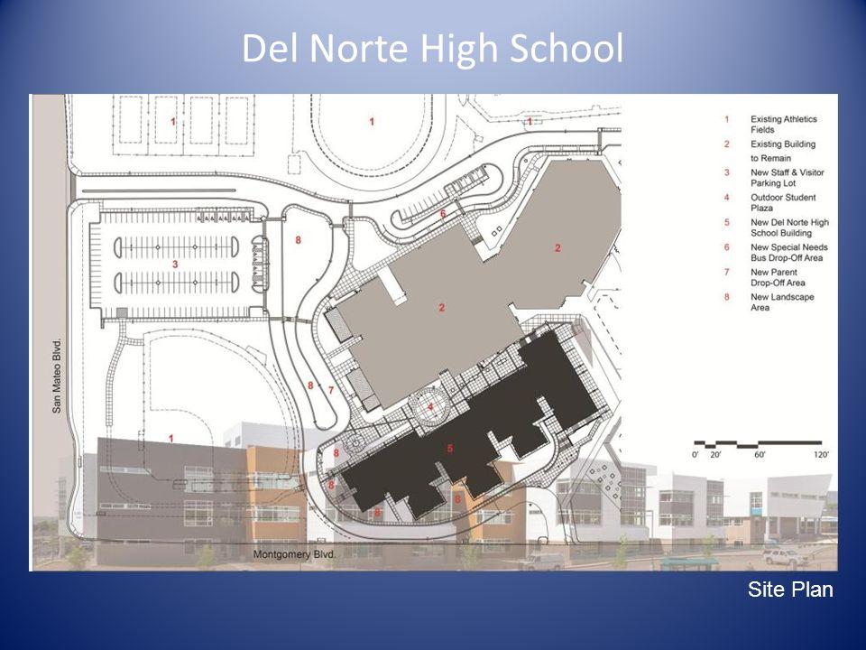 Del Norte High School Main Site Diagram Site Plan