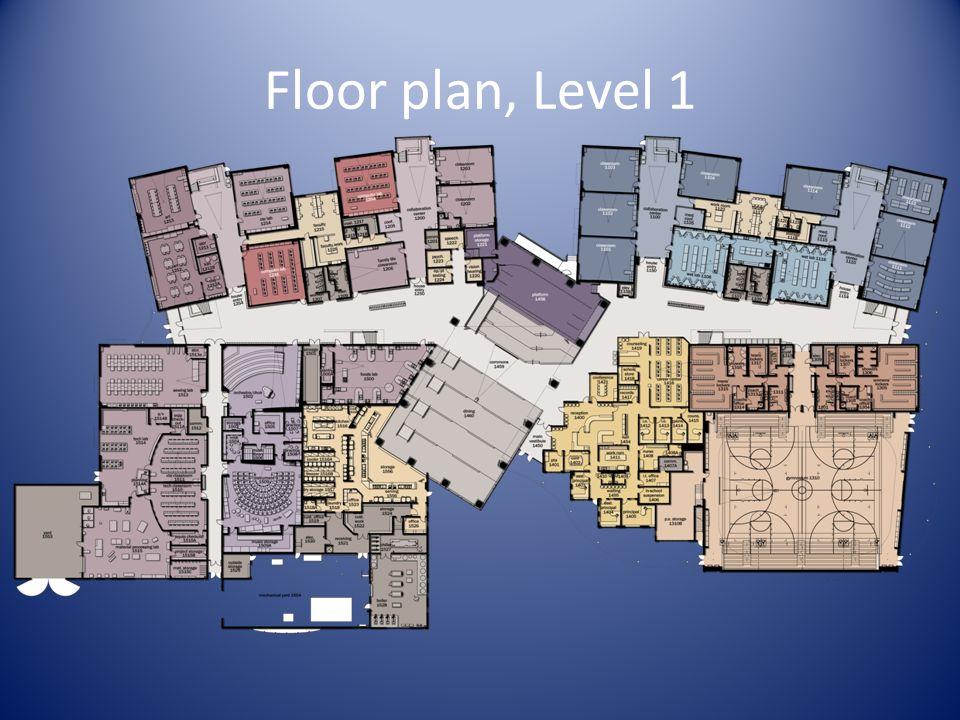 Floor plan, Level 1