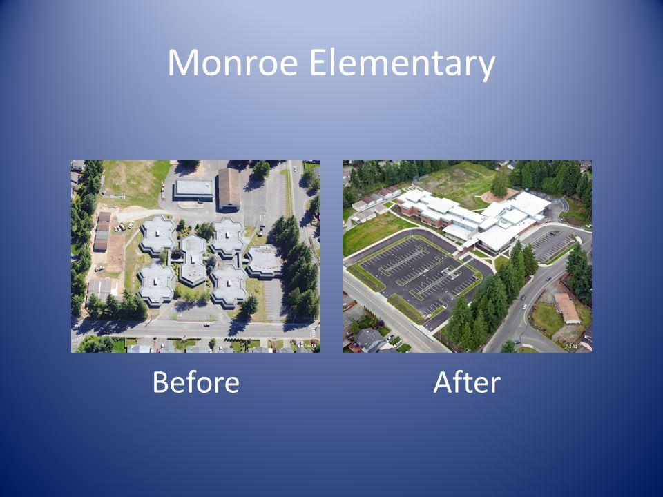 Community Resource Community Environment: Monroe Elementary School was designed to replace an existing active school community located in an established suburban Everett neighborhood.