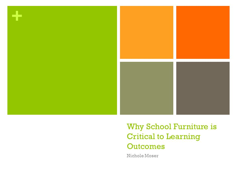 + Why School Furniture is Critical to Learning Outcomes Nichole Moser