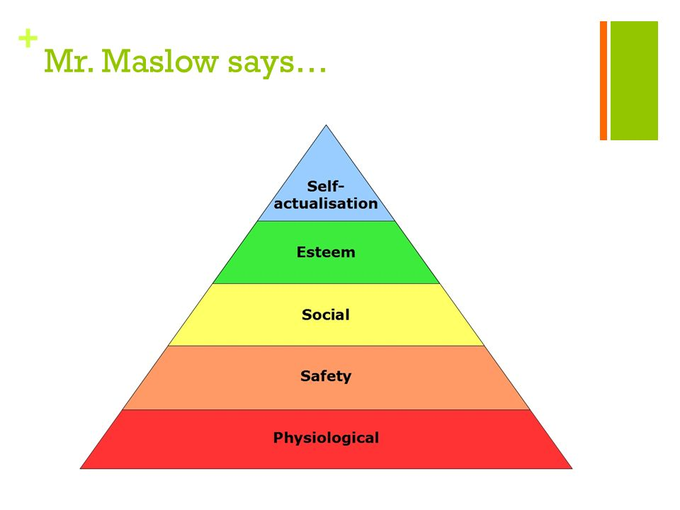 + Mr. Maslow says…