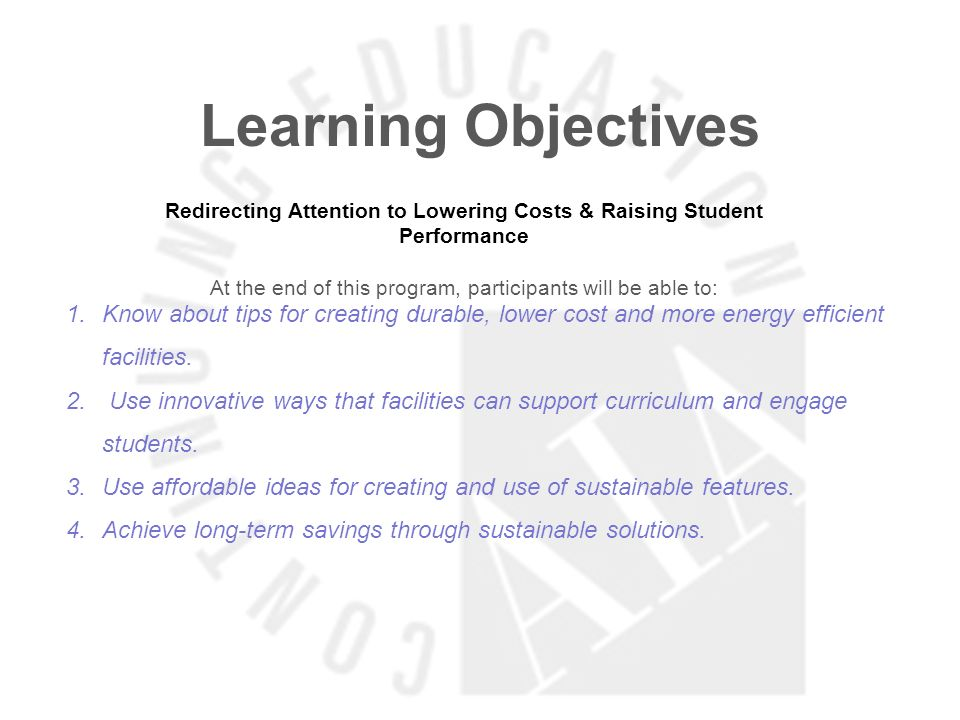 Learning Objectives TSTC: How Repurposing a Building Can Be the Solution for Educational Facilities At the end of this program, participants will be able to: 1.Understand how repurposing existing facilities can create a significant cost savings for the client.