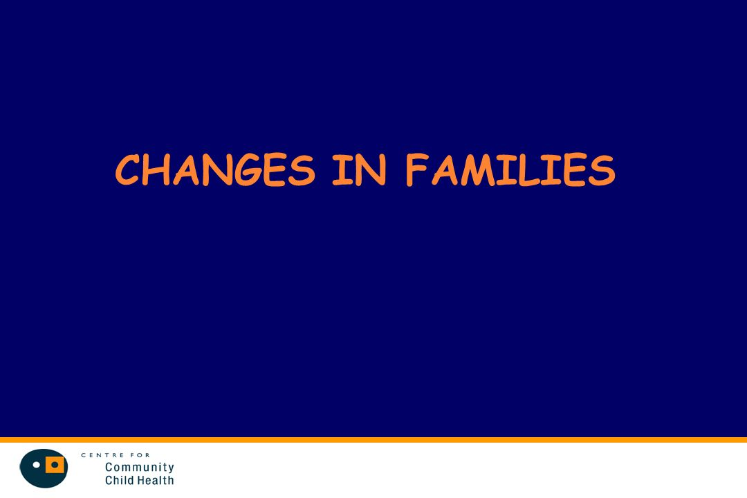 CHANGES IN FAMILIES