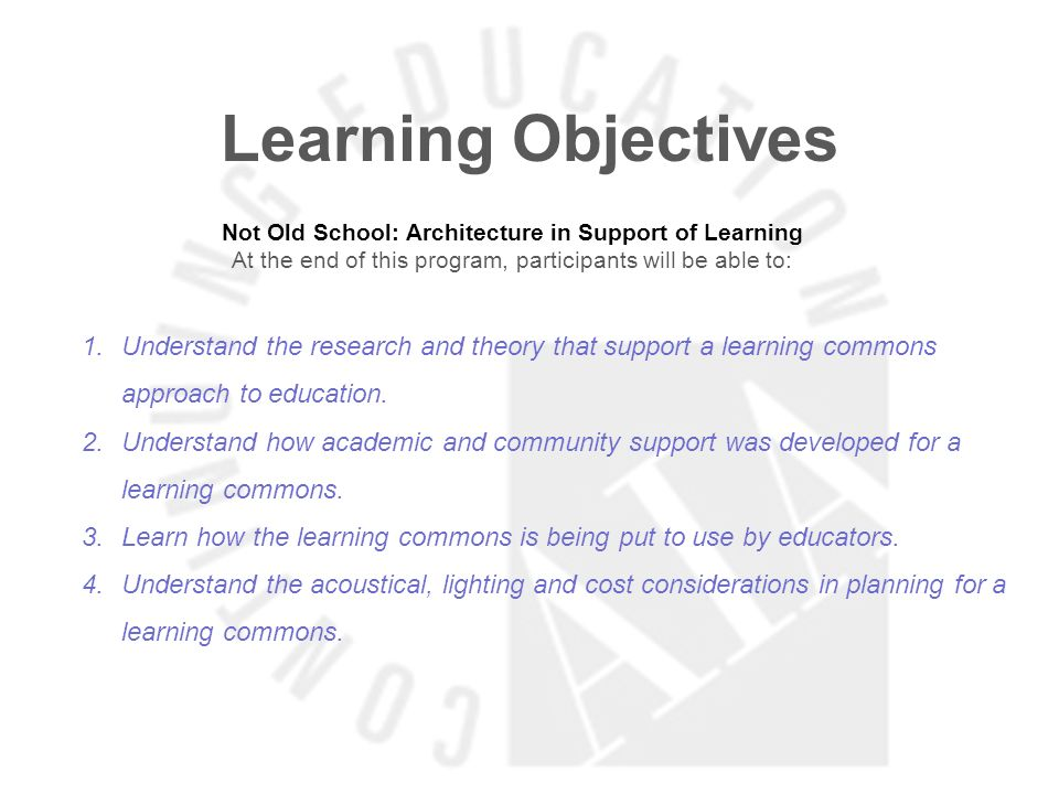 Learning Objectives Imagining the High School of the Future At the end of this program, participants will be able to: 1.Understand the changes in patterns of learning.