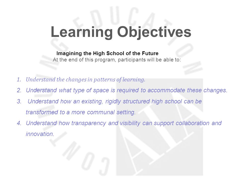 Learning Objectives Pittsburgh CAPA 6-12 At the end of this program, participants will be able to: 1.