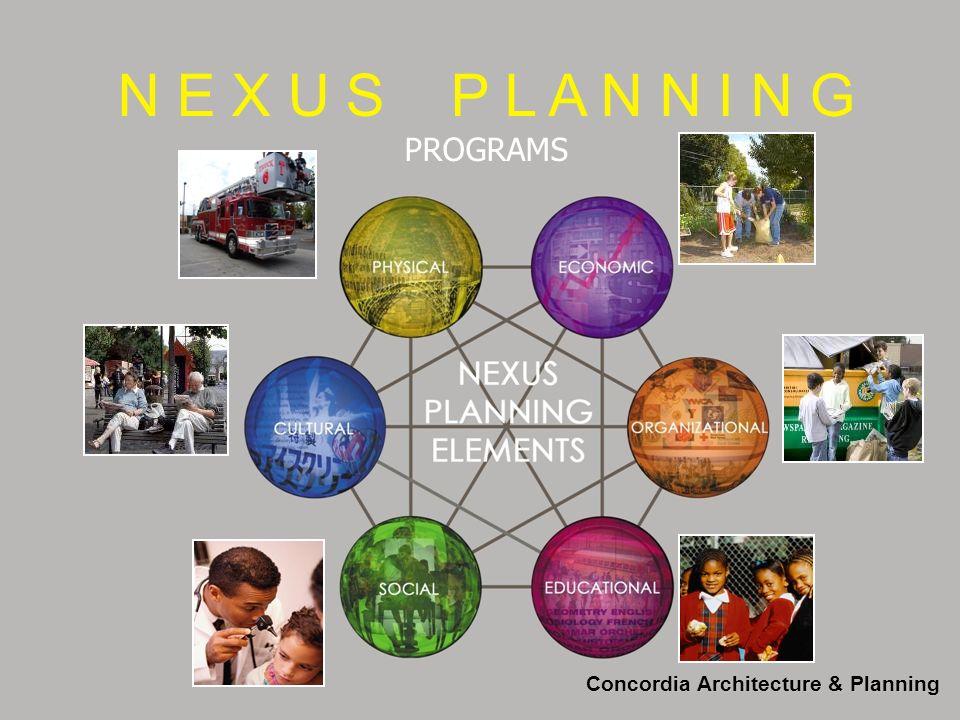 N E X U S P L A N N I N G PROGRAMS Concordia Architecture & Planning