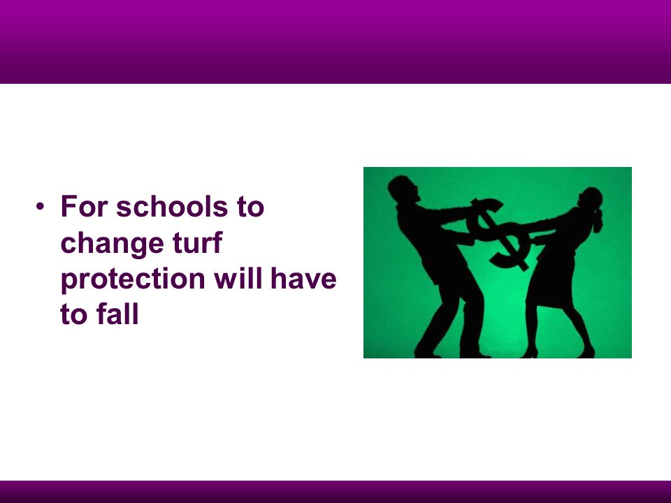 For schools to change turf protection will have to fall