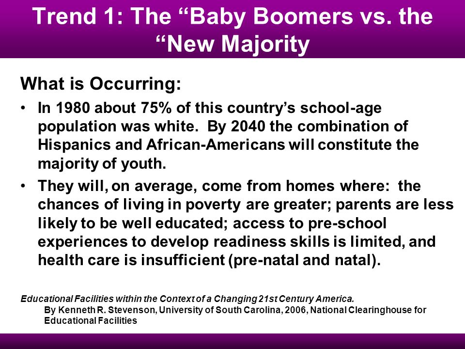 Trend 1: The Baby Boomers vs.