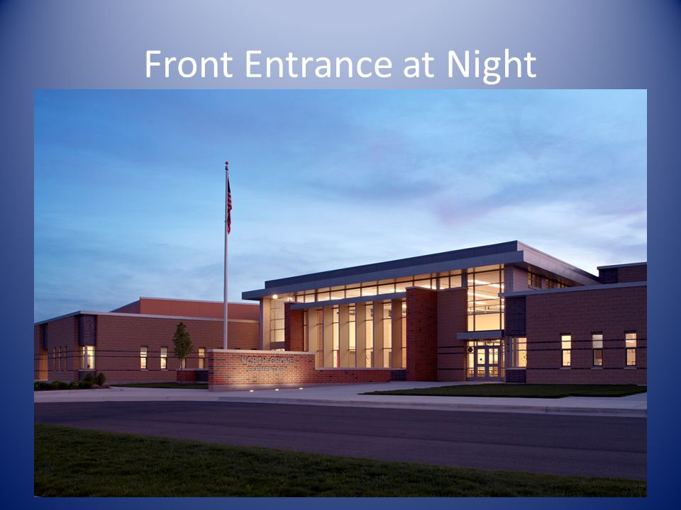 Front Entrance at Night