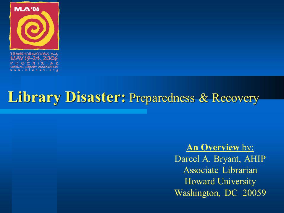 Process for developing a plan Establish a disaster committee to develop rules and procedures.