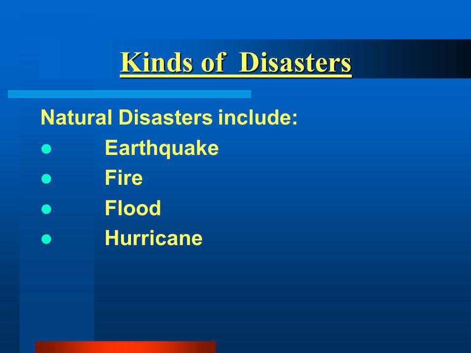 Summary Disaster can happen to any library Be ready for a disaster Layout a plan of what needs to be done when a disaster strikes Train staff how the disaster plan operates Review, revise and rehearse your plan regularly