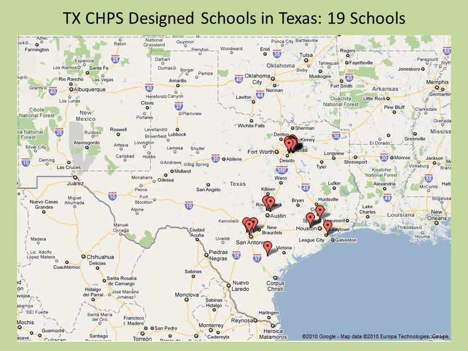 TX CHPS Designed Schools in Texas: 19 Schools