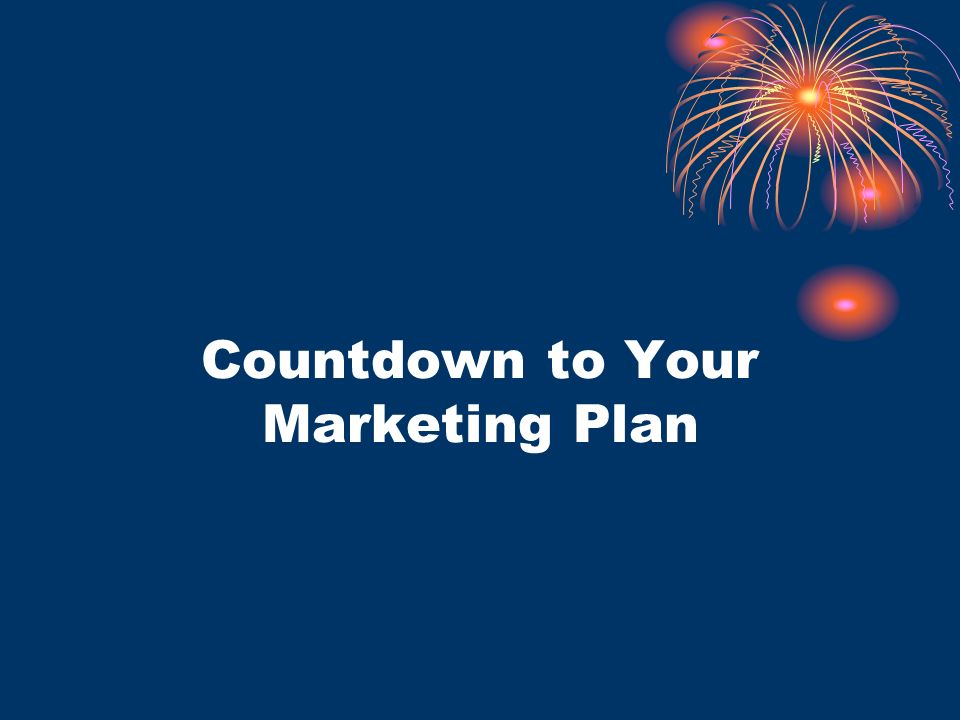 Countdown to Your Marketing Plan