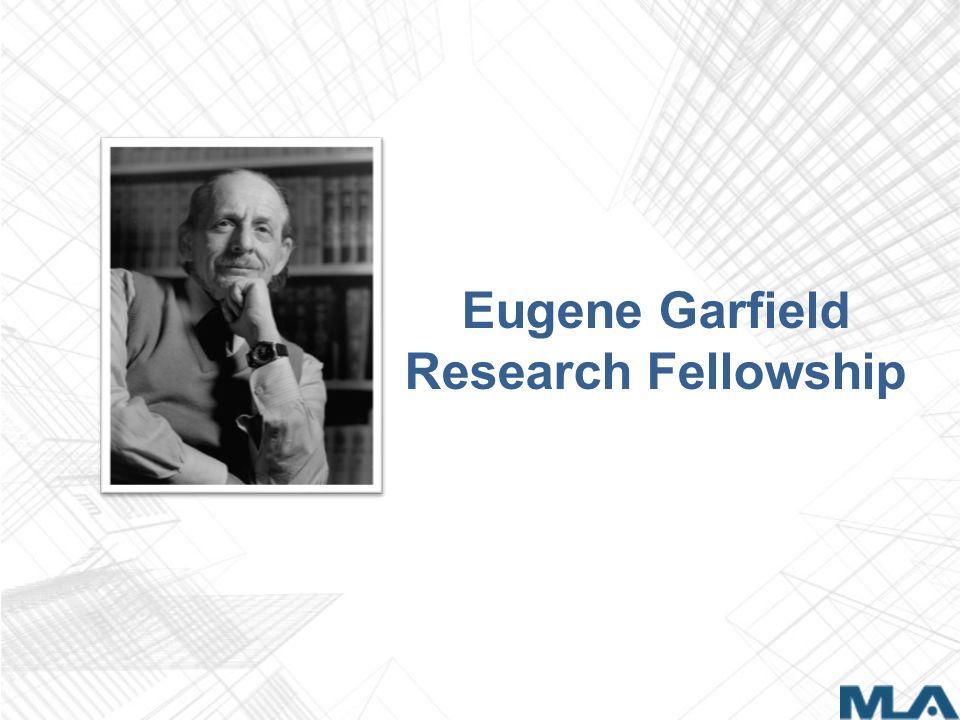 Eugene Garfield Research Fellowship