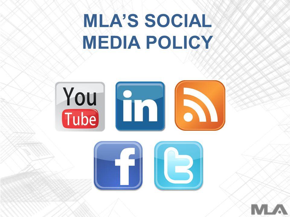 MLAS SOCIAL MEDIA POLICY