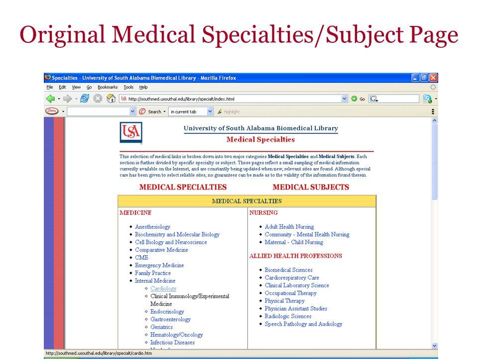 Medical Specialties: Cardiology