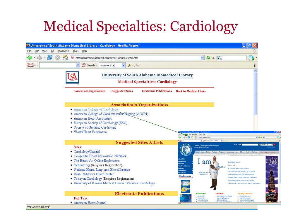 Medical Specialties: Cardiology